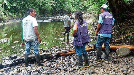 Afectación en ríos comunidad Awá.